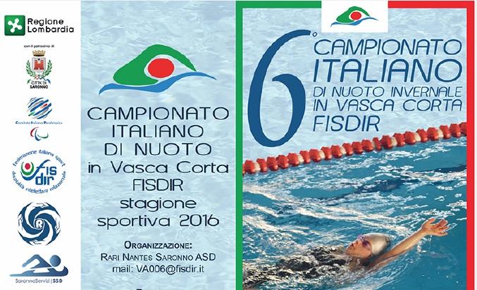 "SILVANA BAJ NUOTO: AL ""6° CAMPIONATO ITALIANO NUOTO IN VASCA CORTA FISDIR"""