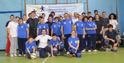 """Volley diversamente abili: la """"Silvana Baj"""" incontra la squadra dei giovani della Croce Rossa."""